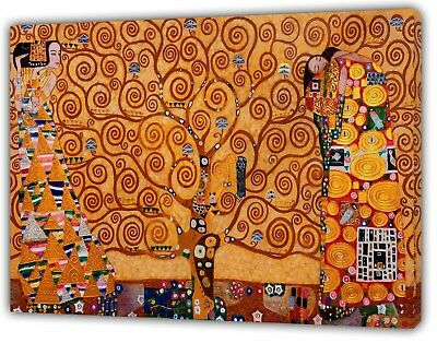 Gustov Klimt The Tree Of Life Oil Paint Reprint On Wood Framed Canvas Decoration