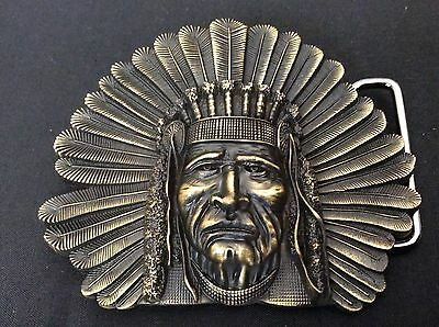 New Indian Cheif Western Belt Buckle