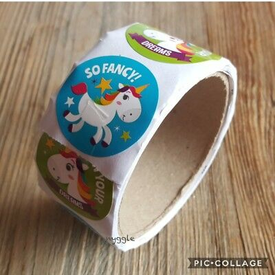 Rainbow Unicorn Stickers Sticker Roll Children's Kids Party Favours Loot Bag