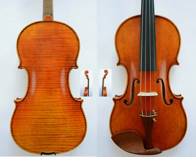 Rare Violin Outstanding Sound Master's Own Work 1-P Flame Back