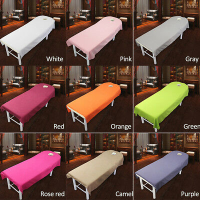 Optional Massage Bed Table Soft Cover Salon Spa Couch Sheet Bedding With Hole AU