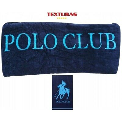 TEXTURAS SUN&SURF - Toalla Playa POLO CLUB Azul 95x175 SINGLE