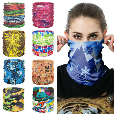 Multi-Purpose Bandana Tube Face Mask Neck Warmer Dust Shield Snood Headband