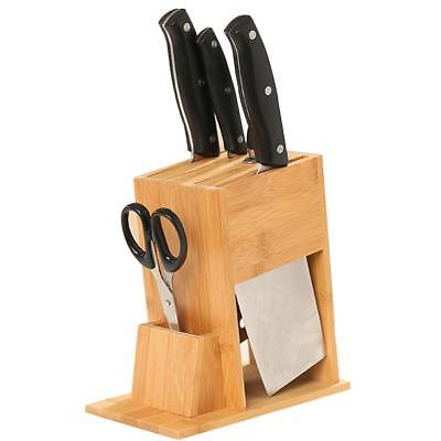Universal wooden Knife block holder kitchen Multi-functional storage shelf rack