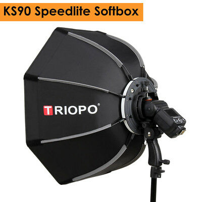 90cm Portable Outdoor Octagon Umbrella Softbox for Flash Speedlite TR-988 V860II