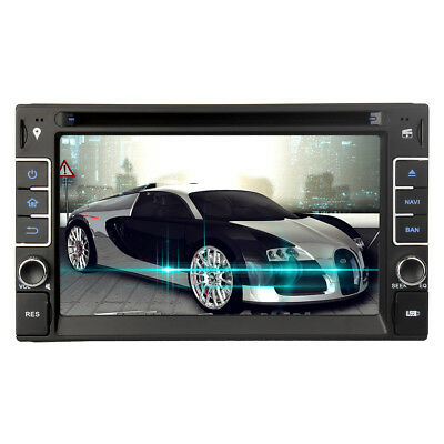 "Double 2Din 6.2"" Sat Nav Car DVD Player Stereo GPS Bluetooth Navigation Radio UK"