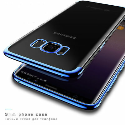 ShockProof Silicone Plating Clear Slim Case Cover For Samsung Galaxy S8 S9 Plus