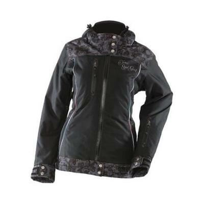 Divas SnowGear Lace Collection Womens Jacket (Black, X-Small)