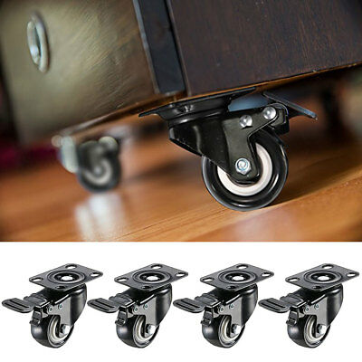 4Pcs 2 Inch Axles Repair 360 Degree Rotation Suitcase Replacement Wheels Ornate