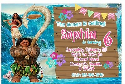 photo about Moana Printable Invitations known as MOANA BIRTHDAY Social gathering Invitation (Printable)