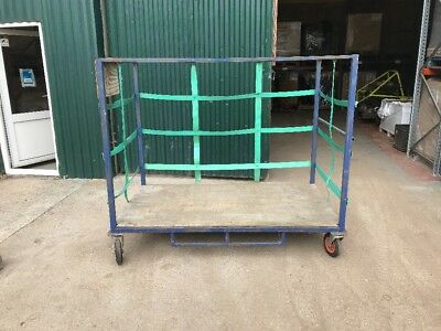 8 X 4ft Trolly All Wheel Steer Warehouse Picking Storage