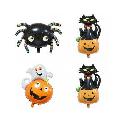 Funny Pumpkin Cat Ghost Spider Foil Balloon Halloween Party Home Decor FI