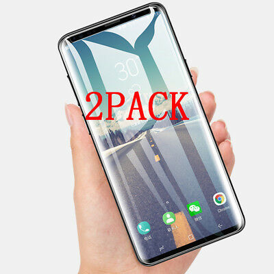 2X Premium 9H 3D curved Tempered Glass Screen Protector Fr Samsung Note 8/9 LOT