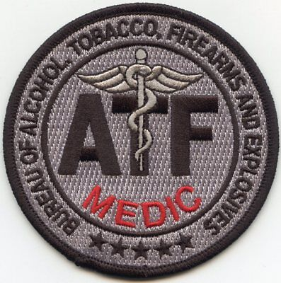 ATF WASHINGTON DC subdued gray MEDIC POLICE PATCH
