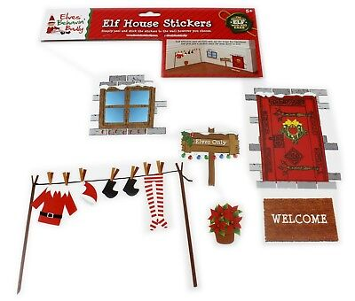 Christmas Naughty Elf Elves Behaving Badly Wall Stickers Accessories Decoration