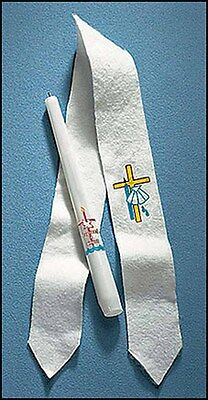 Child Baptismal Stole (EC334) Felt NEW 2x16 Inches