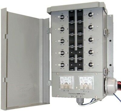 30-Amp 8-Space 10-Circuits G2 Manual Transfer Switch Kit Outdoor Rainproof Box