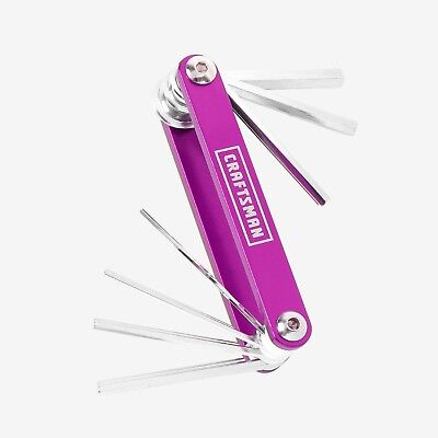 NEW Craftsman (2) 7 in 1 Fold-Up Hex Key Set, PINK, Standard & Metric