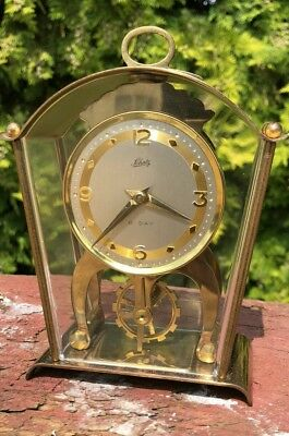 Vintage Schatz & Shone German 2 Jewel Unadjusted 8 day Carriage / Mantle Clock *