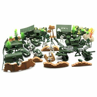 90PCS Plastic Model Playset Toy Soldiers Action Figures Army Men Accessories  FZ