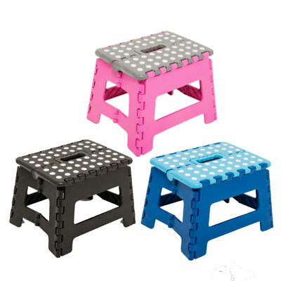 Folding Step Stool Plastic Multi Purpose Home Kitchen Foldable Easy Storage New
