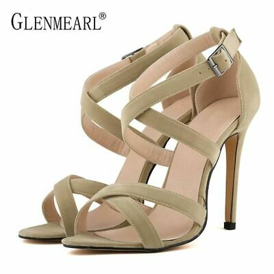 Sexy High Heels Women's Sandals Shoes Female Sandals Thin High Heels Buckle Summ