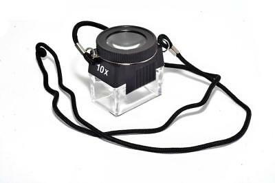 10X Magnification Loupe With Lanyard Slides Negatives Stamps