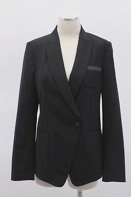 NWT $2995 Brunello Cucinelli Women VWool Jacket W/Monili Bead Pocket Sz 42M A186