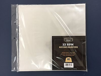 "200 Clear Poly Plastic LP Outer Sleeves 2 Mil 12"" Vinyl 33rpm Record Album Cover"