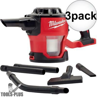 Milwaukee 0882-20 M18 Compact Vacuum (Tool Only) with HEPA Filter 3x New