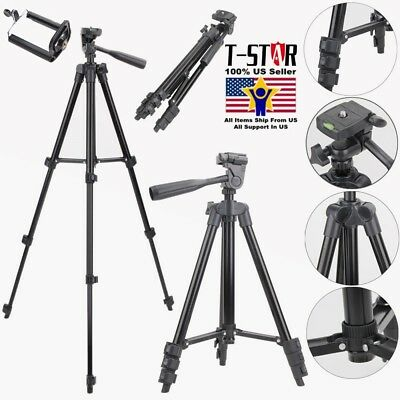 Professional Aluminum Tripod Stand Mount Holder for Canon Nikon Sony DSLR Camera