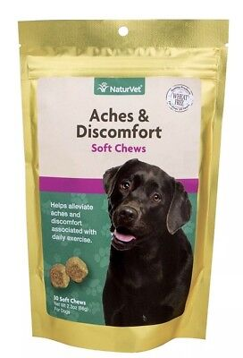 NaturVet Aches and Discomfort Hip and Joint Dog Soft Chew 30 count