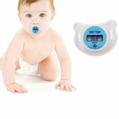 1 Pc Digital LCD Pacifier Baby Infants Nipple Thermometer for Kids Soft Safe Mou