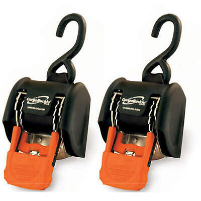 CargoBuckle F18800 RETRACTABLE RATCHET TIE DOWN STRAP 3500 lbs 2 Pack 2 INCH
