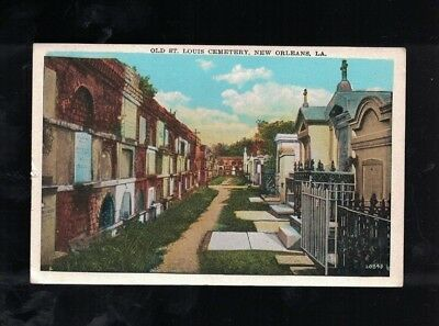 C 1930 Old St. Louis Cemetery New Orleans Louisiana Post Card