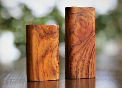 Cocobolo Wood Dugout with Glass One Hitter