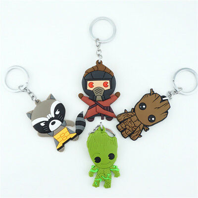 Guardians of the Galaxy Vol. 2 Keychain Keyring Silicone Pendants Key Ring Gift