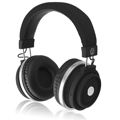 Bluetooth Wireless Over-Ear Headphones Built-In Microphone Hidden Remote Control