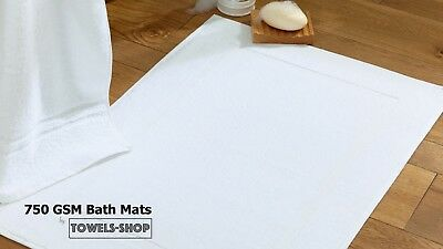 Bath Mats White | 750 GSM | Picture Frame Design | Perfect for Hotels, Spa, B&B
