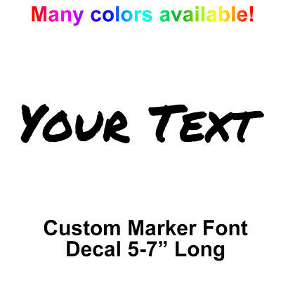 YOUR TEXT Vinyl Decal Sticker Car Window NAME Personalized Lettering Marker Bold