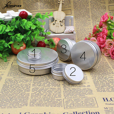 50PCs 15ML/50ML Aluminum Cosmetic Tin Pot Lip Balm Jar Container Oil Wax Empty