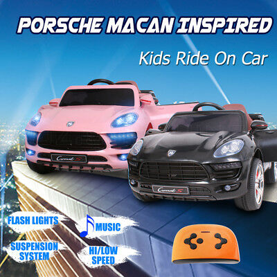 Kids Electric Ride On Car Porsche Macan Inspired Children Toy Remote Battery 12V