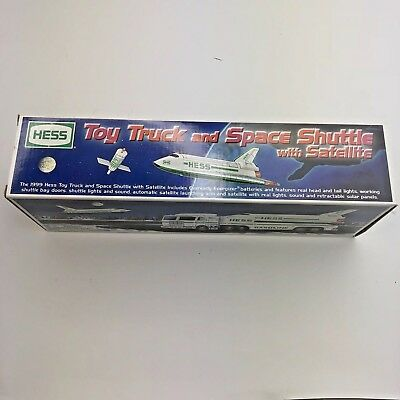 1999 Hess Toy Truck and Space Shuttle with Satellite Rare New in Box Mint NIB