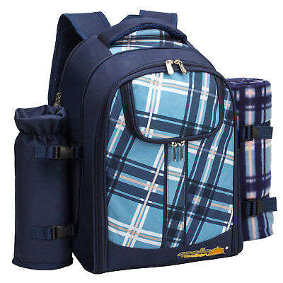 ALLCAMP Picnic Backpack Bag for 4 Person with lunch Cooler bag Compartmen