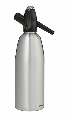 1Ltr Silver Soda Syphon Charger Stream Siphon