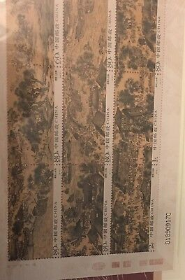 Vintage Chinese Scroll With Book Of Stamps