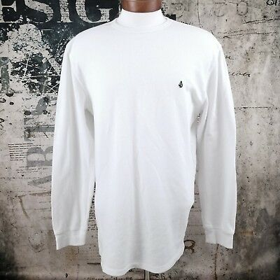 Volcom Mens XX-Large White Waffle Knit Long Sleeve Thermal Shirt XXL
