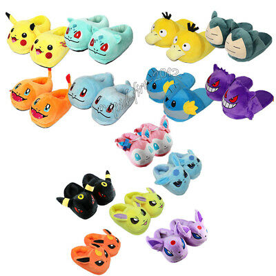 Pokemon Series Slippers Plush Slipper Cosplay Warm Home Shoes Adult Size