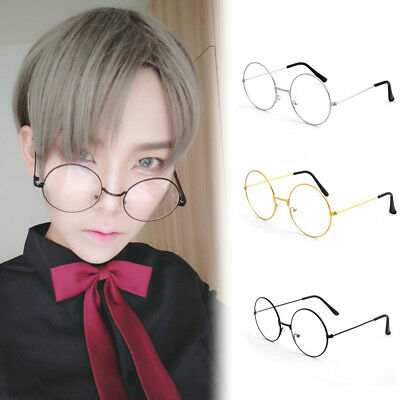 Meganekko Harry Potter Pidge Cosplay Glasses Round Metal Frame Clear Len Eyewear