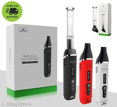 Herbva Viva w/Bubbler & MouthPiece Options! Airistech Dry-Herb Vapor Kit From US